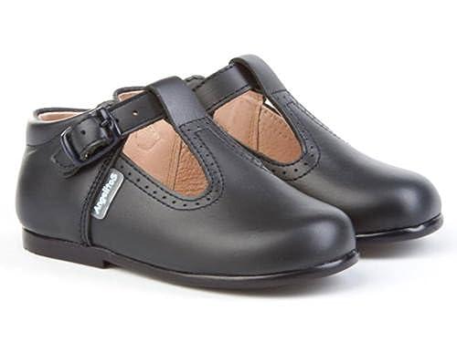 cea92e80 AngelitoS Pepitos de niño de piel color marino. Marca Modelo 503. Calzado  infantil hecho en España. Número 23: Amazon.es: Zapatos y complementos