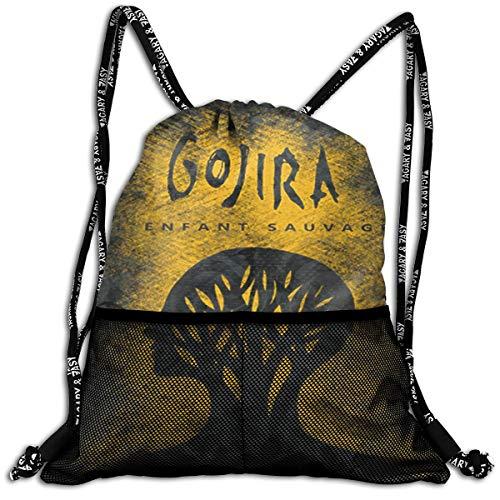 TERESAWATKINS Gojira L'Enfant Sauvage Mans Woman Sport Gym Sack Drawstring Backpack Bag