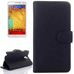 Litchi Texture Flip Leather Case with Card Slots & Holder for Samsung Galaxy Note III Lite / N7505(Black)