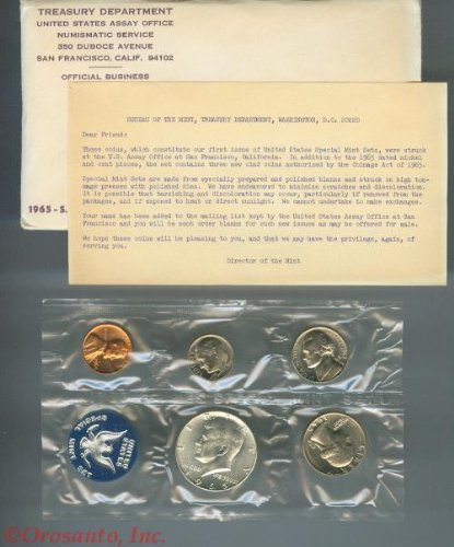 1965 US Special Mint Set - Envelopes No Coins Set Proof