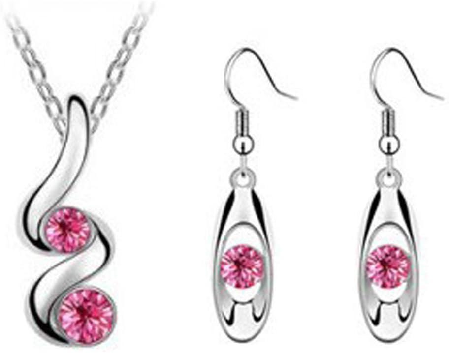 Princesse mari/ée demoiselle dhonneur mariage romantique collier cr/éatif ensemble de boucles doreilles BU bijoux et montres colliers et pendentifs