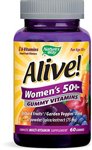 Nature's Way Alive! Women's 50+ Complete Multi-Vitamin Supplement, 60 Gummies