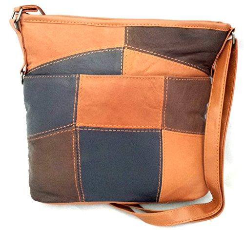 Premium Leather, Borsa a tracolla donna Multicolore Multicolore M - L