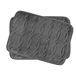 de5fc9ab1e5 Image Unavailable. Image not available for. Color  Bounce Comfort Grecian Micro  Plush Memory Foam Bath Mat ...