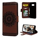 Galaxy S8 Plus Wallet Case, YOKIRIN PU Leather Dream Catcher 3D Relief Totem Embossed Folio Flip Full Protective Cover with Credit Card Holder Kickstand Magnetic Closure for Samsung Galaxy S8 Plus