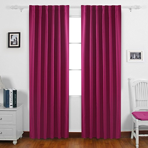 Deconovo Solid Color Back Tab and Rod Pocket - Thermal Back Curtains