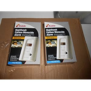 Kidde KN-COPP-3 Nighthawk Plug-In Carbon Monoxide Alarm with Battery Backup Set of 2