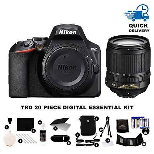Nikon D3500 DX-Format DSLR Two Lens Kit with AF-P DX NIKKOR 18-55mm f/3.5-5.6G VR & AF-P DX NIKKOR 70-300mm f/4.5-6.3G ED, Black (Large Format Digital)