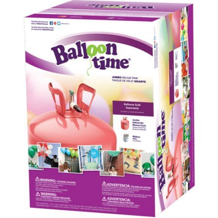 Balloon Time Jumbo 12  Helium Tank Blend Kit  18X16x12