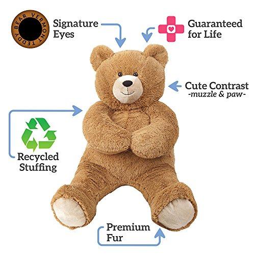 Vermont-Teddy-Bear-Valentines-Day-Gifts-For-Her-Big-Teddy-Bear-Plush-Teddy-Bear-3-Feet-Tall-Brown