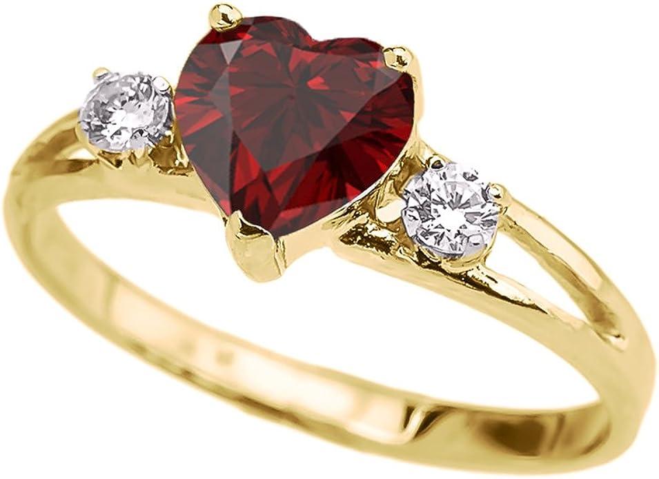 14K Solid Gold Ring Wedding Ring Promise Ring Heart Ring TGR203