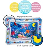 Splashinkids Inflatable Tummy Time Premium Water mat for Infants & Toddlers is The Perfect Fun time Play Activity Center for Your Babys Stimulation and Growth