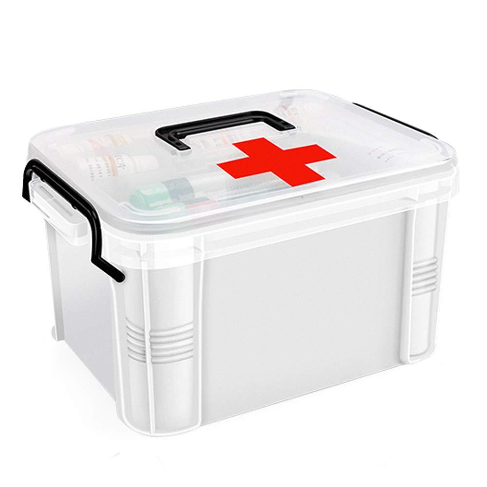 ドラッグ収納ボックス 医療用ボックス - ポリエチレン素材、軽くて湿気が少なく、防塵性があり、厚くて丈夫で掃除が簡単多機能二重層大容量、家庭用二重層医療用ボックス救急医療用ボックス健康ボックス子供用小型医療ボックス - 2サイズオプション (サイズ さいず : 28*22*20cm) 28*22*20cm  B07MWXV7B1