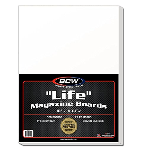 NEW BCW LIFE MAGAZINE BACKING BOARDS