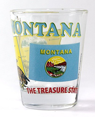 Montana Glass Shot (Montana The Treasure State All-American Collection Shot Glass)