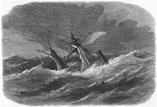 st-georges-channel-shipwreck-armenian-arklow-bank-1865-old-antique-vintage-print-engraving-art-pictu