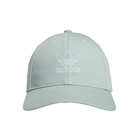save off c12f0 5d23f Amazon.com  adidas Women s Originals Outline Logo Relaxed Adjustable Cap,  Ash Green White, One Size  Sports   Outdoors