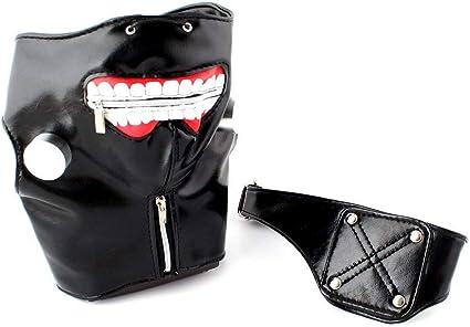 Tokyo Ghoul Kaneki Ken Cosplay Mask PU Adjustable Zipper Halloween Party Props
