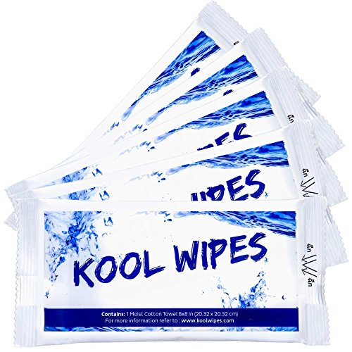 Kool Gear - Moist Cotton Towel, Antibacterial Hand, Face and Body Wet Wipes Individually Wrapped, Shower Body Wipes, Portable Towel For Outdoor, Camping Gear, Travel, Yoga, Product from Thailand (30 Count)
