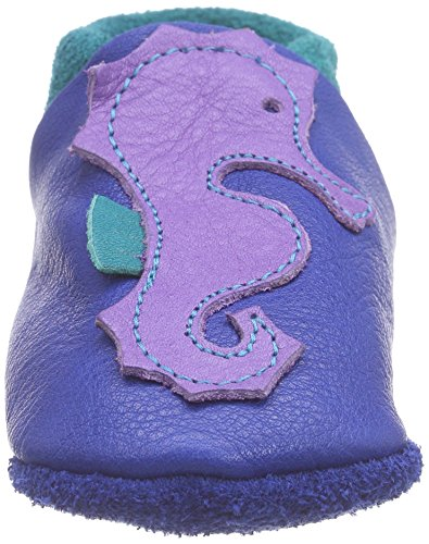 Pololo POLOLO Seepferdchen Bobby - pantuflas de cuero Niños^Niñas azul - Blau (Blau/Waikiki)