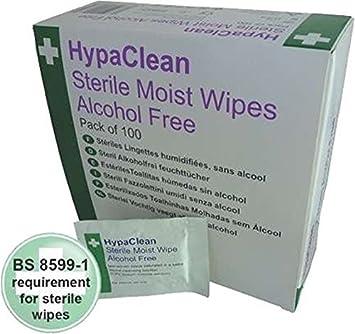 Safety First Aid esencial hypaclean de limpieza herida estéril toallitas húmedas: Amazon.es: Deportes y aire libre