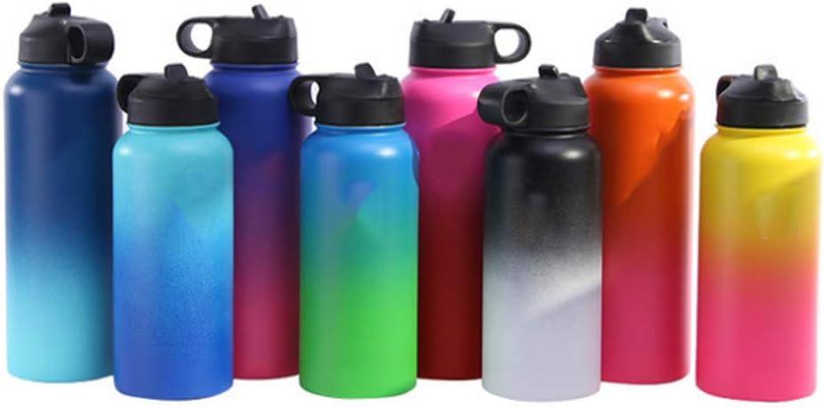 cxw111 Botella Deportiva Hombres y Mujeres aspiran Acero Inoxidable sin pipeta de Agua BPA Botella de Agua al Aire Libre para Correr al Aire Libre Taza a Prueba de Fugas