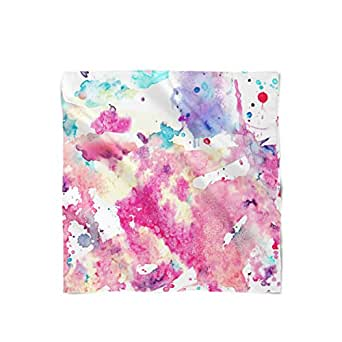 Watercolor Art Satin Style Scarf - Large Rectangle (16x60)