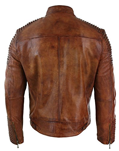 Distressed Giacca Piumino Brown Red Smoke Uomo 1OI7Pq