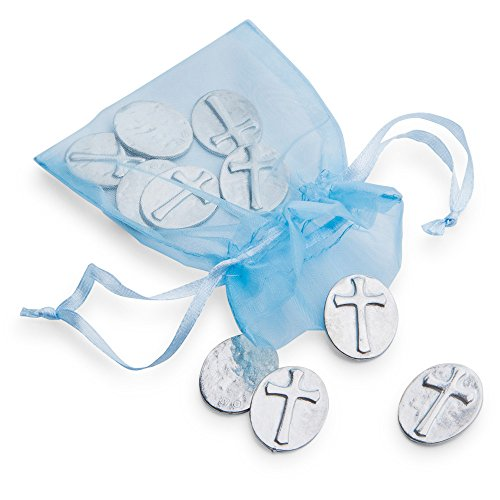 DANFORTH - Vilmain Cross Pocket Tokens, Bag of 10 Pocket Coins - Pewter ()