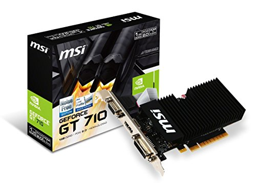 MSI Gaming GeForce GT 710 1GB GDRR3 64-bit HDCP Support DirectX 12 OpenGL 4.5 Heat Sink Low Profile Graphics Card (GT 710 1GD3H LPV1) (Hdmi Driver For Windows 8-1 64 Bit)