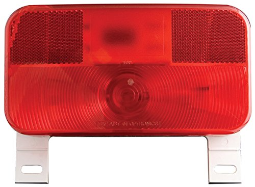 Optronics RV-ST51P Red RV Tail License Plate - Light Plate Holder License