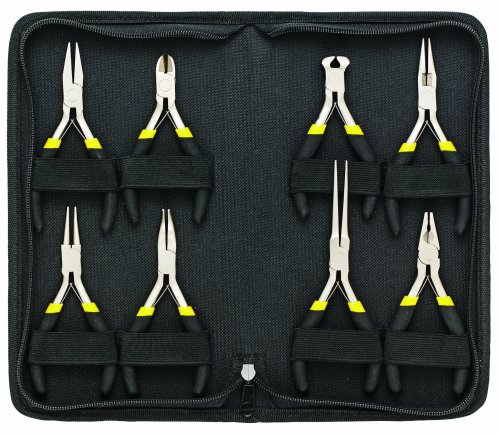General Tools 938 Technician's Mini Plier Set, 8-Piece - Mini Pliers Set