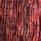 Wool Roving Craft Fiber. Hand Dyed Soft BFL Wool Top. Pre-drafted for easy Hand Spinning, Needle Felting, Wet Felting, Weaving, Embellishments, and Felted Soap. 1 Ounce, Mahogany