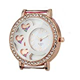 TVT 3 Hearts with Seed Beads Inside Watch Face for Your Interchangeable Beaded Bands EX-Ocean-WF