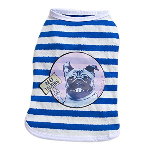 S-Lifeeling Sweet Shirts Spring Summer Teddy Dog Clothes Pet Costumes Handsome-Dog -