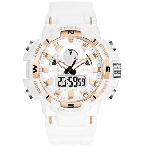 (Women's Sports Digital Watch, Waterproof White Wrist Watches for)