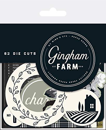 My Minds Eye GHF116 Gingham Farm Mixed Bag Cardstock Die-Cuts 62/Pkg ()