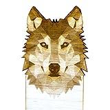 Laser Engraved Birch Wood Wolf Bookmark