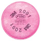 3m 2091 p100 particulate filter - 3M Particulate Filter P100 Respiratory Protection, 2091/07000(AAD), 2/PK