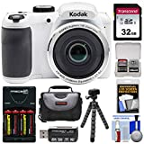 KODAK PIXPRO AZ252 Astro Zoom Digital Camera (White) with 32GB Card + Batteries & Charger + Case + Tripod Kit Review