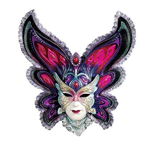 Mardi Gras Mask Design (Design Toscano Maidens of Mardi Butterfly Maiden Gras Wall Mask Sculpture)