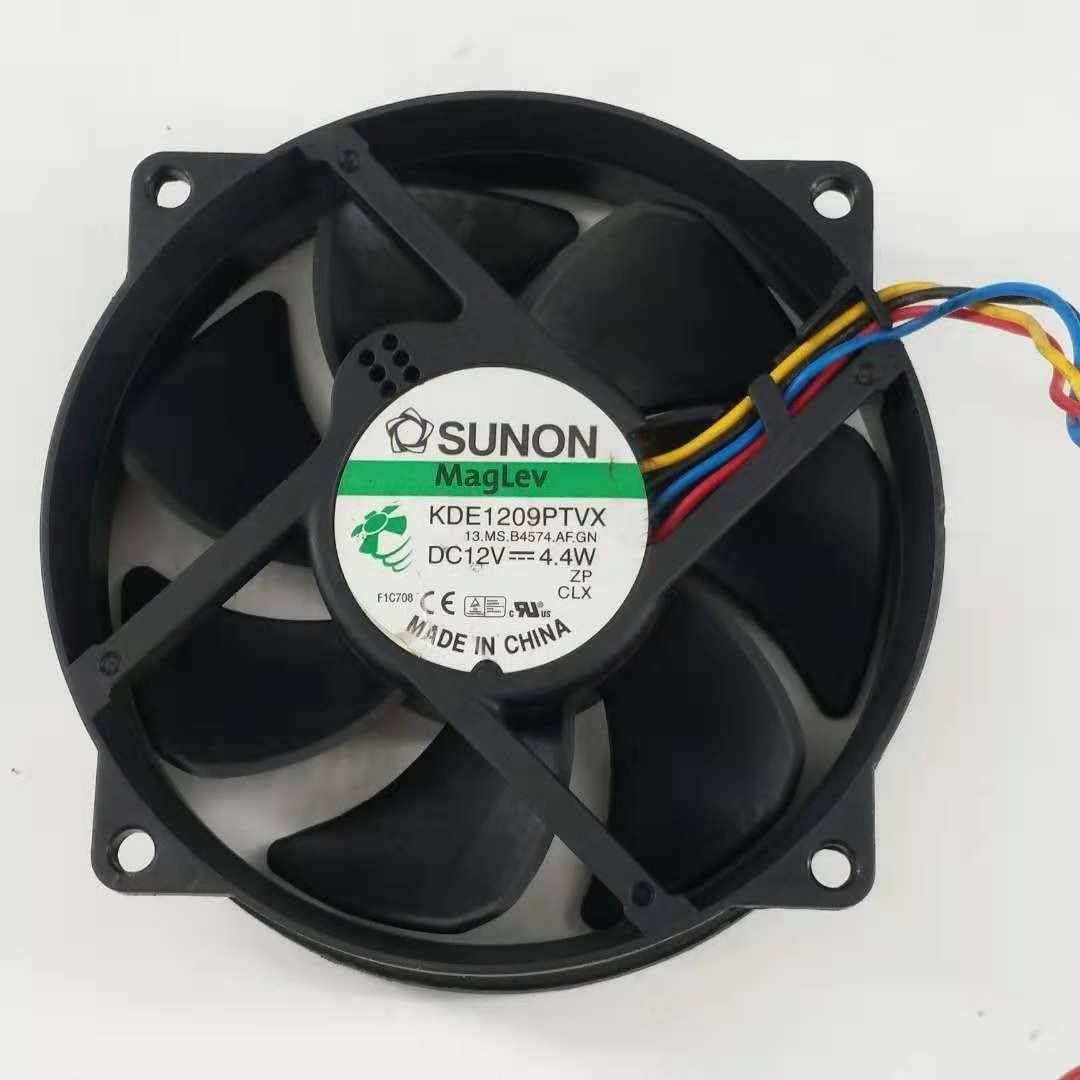for SUNON KDE1209PTVX 4.4W 12V 9CM 4-pin Circular maglev Fan
