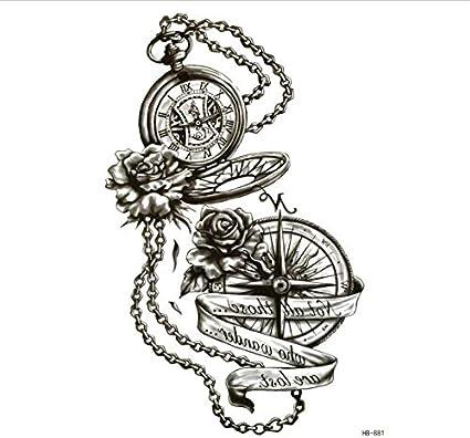 ruofengpuzi Adesivo tatuaggio4Pcs Reloj De Bolsillo Impermeable ...