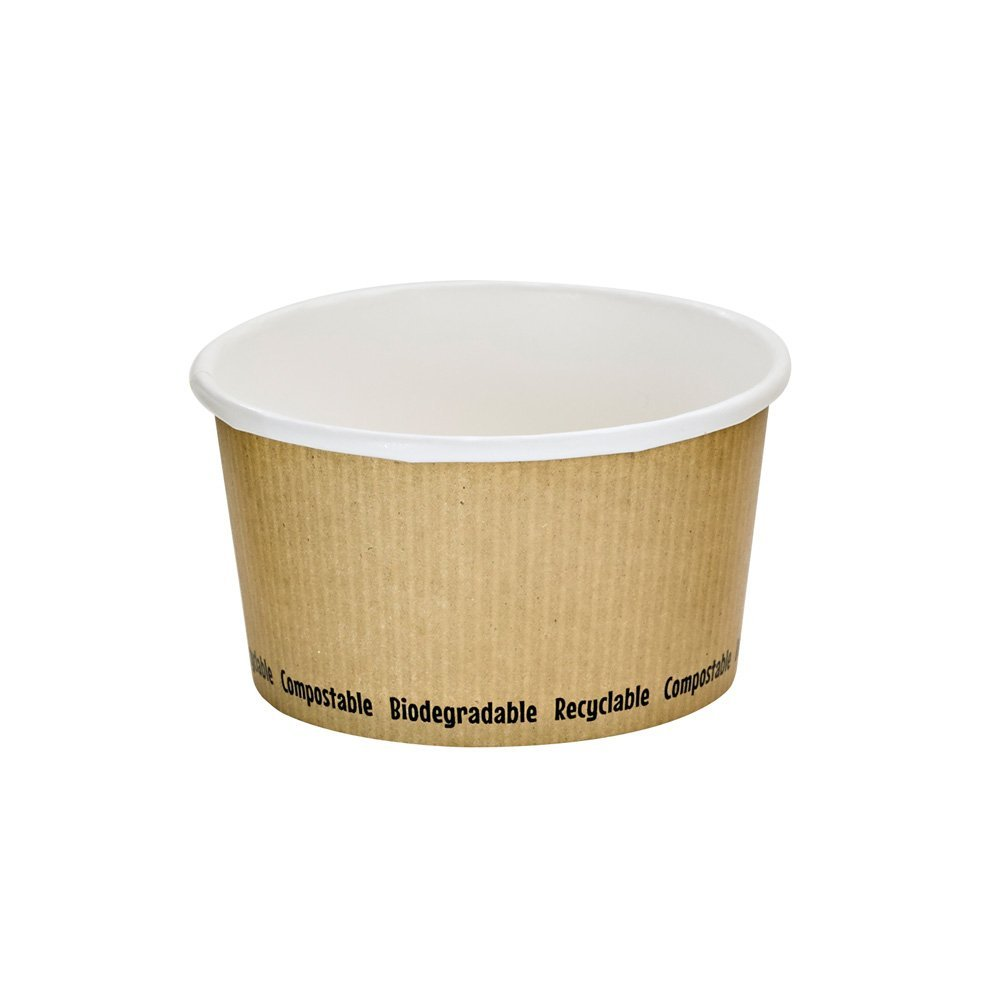 PacknWood Compostable Paper Soup Cup, 12 oz. (Case of 500)