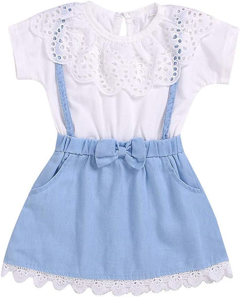 Kehen Newborn Infant Baby Girl Fly Sleeve Embroider Print Romper Bodysuit Denim Jumpsuit Summer Clothes