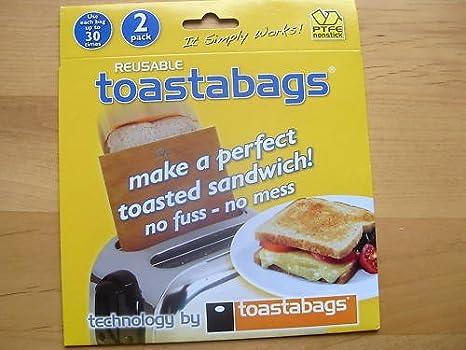 Amazon.com: Bolsas de tostador reutilizable Toastabags ...