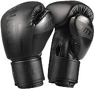 ZTTY Boxing Gloves Kickboxing Muay Thai MMA Pro Grade Sparring Training Gloves for Men & W
