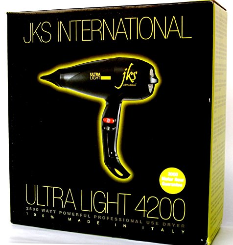 International Italian (JKS Italian Ultra Light 4200 Powerful Blow Dryer, Award Winner, professional stylist #1 choice)