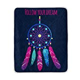 ALIREA Abstract Dream Catcher Super Soft Warm Blanket Lightweight Throw Blankets for Bed Couch Sofa Travelling Camping 60 x 50 Inch for Kids Boys Girls