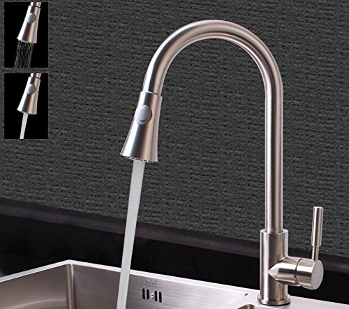 2 Lpophy Bathroom Sink Mixer Taps Faucet Bath Waterfall Cold and Hot Water Tap for Washroom Bathroom and Kitchen Hot and Cold Universal redary Telescopic Pull Type 3
